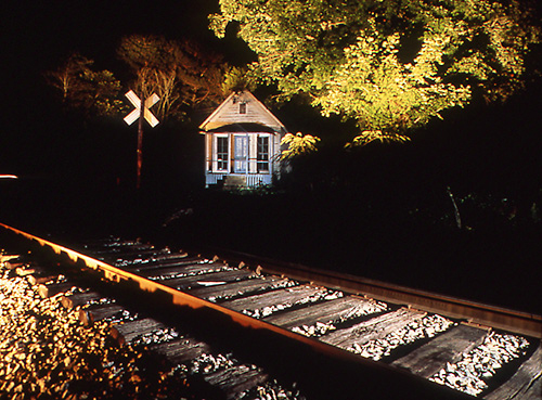 """Views from the Tracks: Store/Crossing, cibachrome, 16x20"""""""