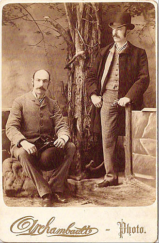 "Olrehambaatt-Photo (Unknown Photographer), ""Double Exposure of a Man"", ca. 1880, vintage albumen cabinet card, 6½ x 4¼"". Courtesy of Robert Flynn Johnson, private collection, San Francisco, CA."