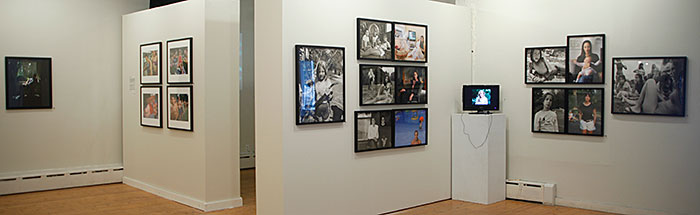 """Installation view of """"Camp: Visiting Day"""""""