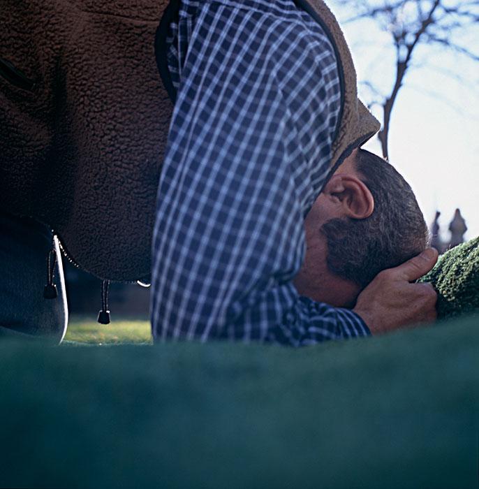 "Brooke Berger, Praying, 2005, from the series Dermis, Cibachrome, 20x24"""