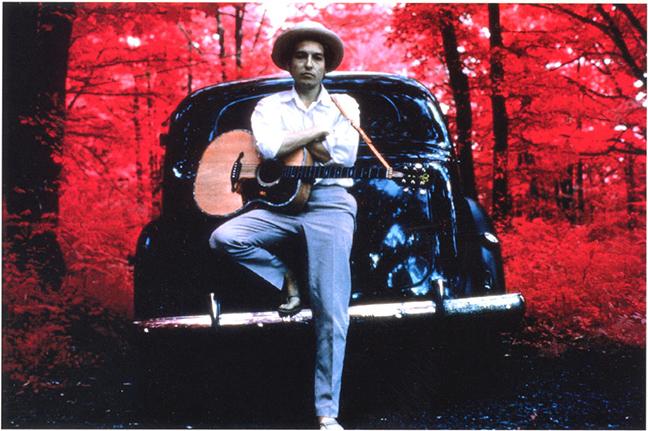 "Elliott Landy, ""Bob Dylan, Woodstock"", 1968, A/P, Infrared, Cibachrome."