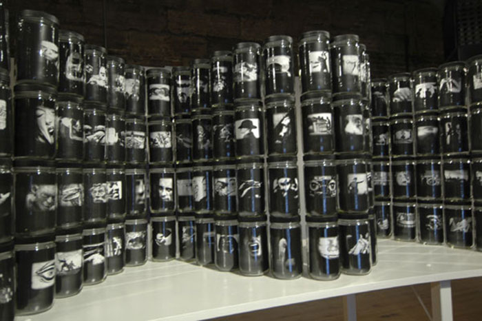 "Robert Hirsch, ""World in a Jar: War & Trauma"", mixed media, 2004"