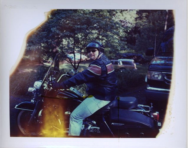 "Grady Kline,  ""Plops Ride"", 2008, Polaroid, 4 1/4 x 3 3/8"" unique print"