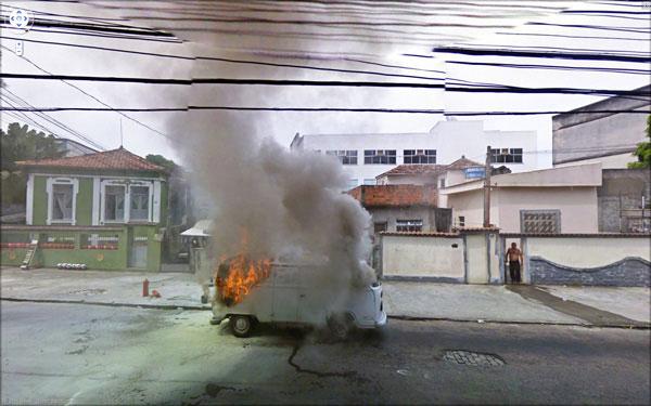"Jon Rafman, ""9 Rua Pereira da Costa, Rio de Janeiro, Brasil"", 2010, from the series '9-eyes', archival inkjet print, 40x64"""