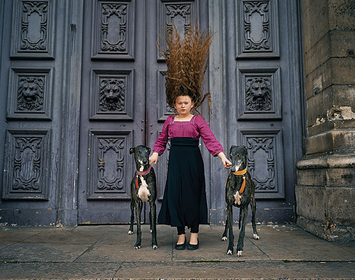 "Robin Schwartz, ""Paris Greyhounds"", 2010, from the series ""Amelia's World"", lambda print, 20x24"""