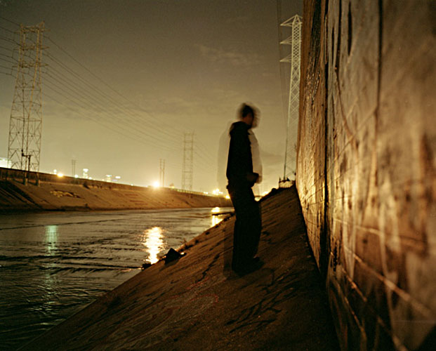 "Stephen Schuster, ""The LA River with Rime at Night"", 2006, Edition of 3, C-print, 33½ x 42¾"""
