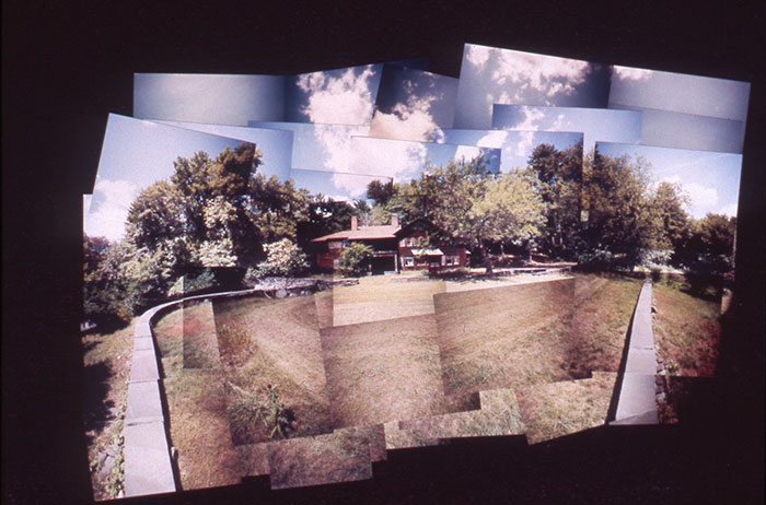 "Danny Tisdale, ""William Whitehead House, 1902"", 1999, c-print montage painting, 15x22""."