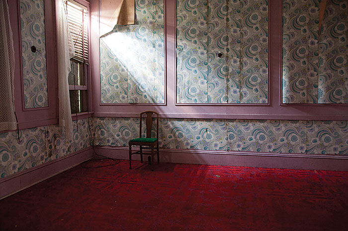 "Samantha VanDeman, ""Floral Wallpaper"", 2012, from the series ""Forgotten Hotels"", Chromogenic print, edition of 10, 16x22"""
